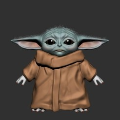 baby_yoda.jpg Download OBJ file Baby Yoda • 3D printer template, h3ydari96