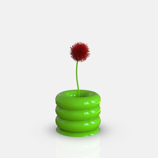 Download free OBJ file Donut Vase  • 3D print design, h3ydari96