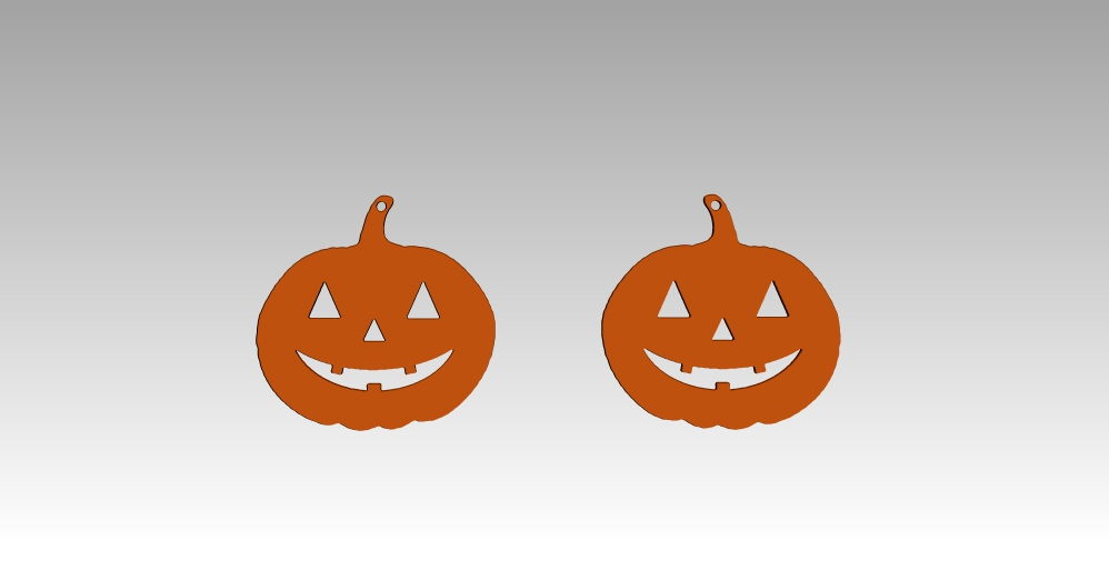 left,right.jpg Download GCODE file Pumpkin earrings • 3D printer template, h3ydari96
