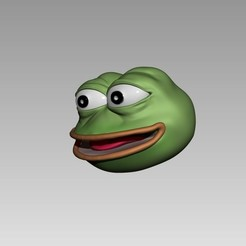 Download free STL files pepe the frog keychain, h3ydari96