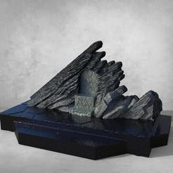 untitled.102.jpg Télécharger fichier OBJ Ensemble de trône en pierre du dragon • Modèle imprimable en 3D, jctesoro
