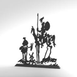 Descargar archivo 3D quijote, jctesoro