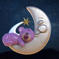 untitled.125.jpg Download OBJ file Moon Bear • Object to 3D print, jctesoro