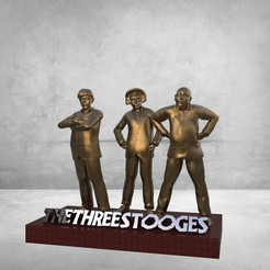 untitled.82.jpg Download OBJ file the three stooges • 3D printable template, jctesoro