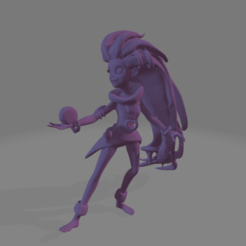 zoe_yoyo_1.png Download STL file Zoe - Ligue of legends • 3D printable design, LoQuieroen3D