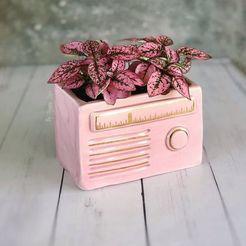 Télécharger fichier OBJ gratuit pot radio vintage • Modèle pour impression 3D, CRSTUDIO8305