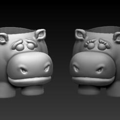 foto 1.jpg Télécharger fichier STL paquet d'hippopotames en pot pour 2 • Modèle imprimable en 3D, CRSTUDIO8305