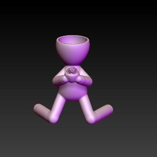 f1.jpg Télécharger fichier OBJ gratuit pot de fleur livrant une fleur • Modèle pour impression 3D, CRSTUDIO8305