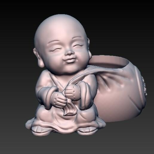 f3.jpg Download OBJ file matera baby buda 4 • 3D printable design, CRSTUDIO8305