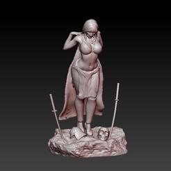 f2.jpg Télécharger fichier STL dame samouraï • Modèle pour imprimante 3D, CRSTUDIO8305