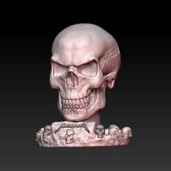 Télécharger fichier impression 3D skull metallica, sistem8305