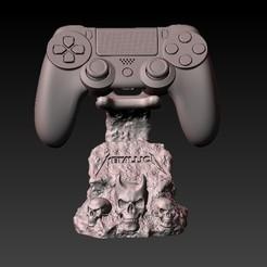 F1.jpg Download OBJ file support ps4 metallica control • 3D printer model, CRSTUDIO8305