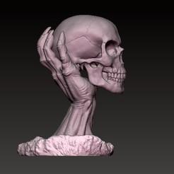 Download 3D printer files skull hand, sistem8305