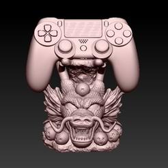 F3.jpg Download STL file STAND CONTROL PS4 SHENLONG • 3D print model, CRSTUDIO8305