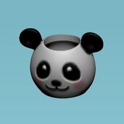 Download free 3D printing designs panda bear pot, sistem8305