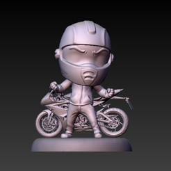 f1.jpg Download STL file biker moto gp • 3D printer template, CRSTUDIO8305