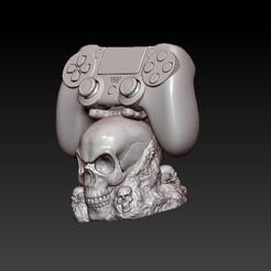 f2.jpg Descargar archivo OBJ ps4 stand skull • Objeto para impresión 3D, CRSTUDIO8305