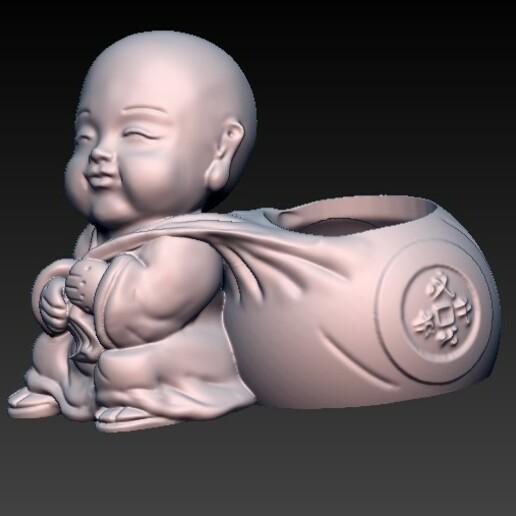 f2.jpg Download OBJ file matera baby buda 4 • 3D printable design, CRSTUDIO8305