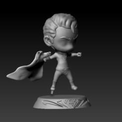 f3.jpg Download STL file superman chibi • 3D printable object, CRSTUDIO8305