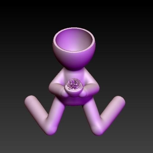 f3.jpg Télécharger fichier OBJ gratuit pot de fleur livrant une fleur • Modèle pour impression 3D, CRSTUDIO8305