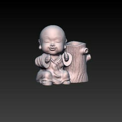 f1.jpg Télécharger fichier OBJ bébé bouddha de la santé • Plan à imprimer en 3D, CRSTUDIO8305