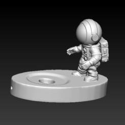 F1.jpg Download STL file ASTRONAUT LAMP BASE • 3D print template, CRSTUDIO8305
