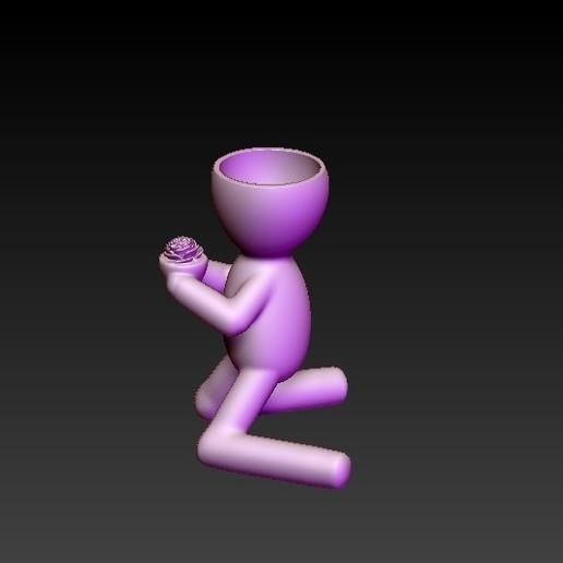 f2.jpg Télécharger fichier OBJ gratuit pot de fleur livrant une fleur • Modèle pour impression 3D, CRSTUDIO8305