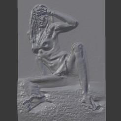 Download 3D printing templates ART Naked woman 2 , DiaSky