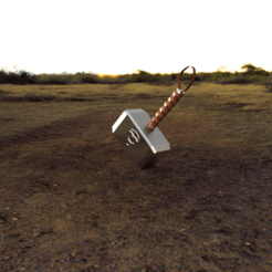 Martillo Thor .png Download free STL file THOR'S HAMMER • 3D printable template, titinmayorga