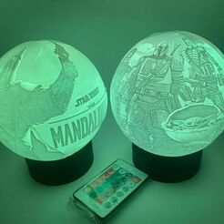 ece3975c-16f8-4ef2-9bae-8ff3c5547264.jpg Télécharger fichier STL MANDALORIAN STAR WARS DISNEY NIGHT LIGHT LITHOPHANE • Design à imprimer en 3D, vadi3d