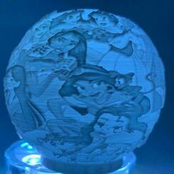 3149aa0e-1fb3-428b-9d28-905b87f68e01.jpg Download STL file DISNEY PRINCESSES NIGHT LIGHT LITHOPHANE • 3D printing object, vadi3d