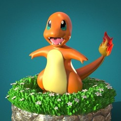 Download STL CHARMANDER , V0N_DRAG0_FamiLy