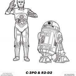 Download free 3D printing models R2D2 Y C3PO, ReGa