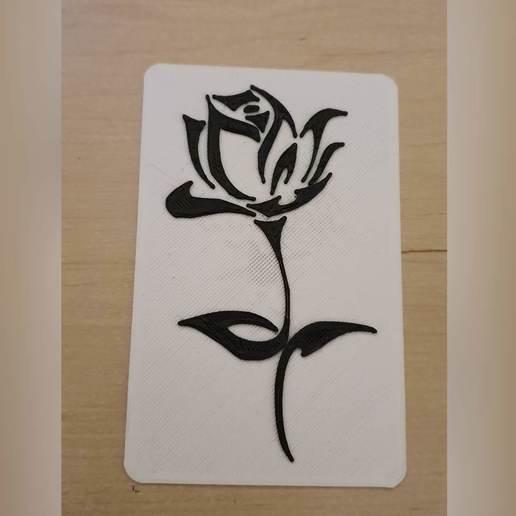 20191010_220057.jpg Télécharger fichier STL gratuit Rose 2D • Objet à imprimer en 3D, ReGa