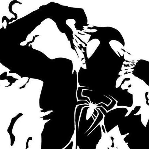 Download free STL files Spider-man symbiont 2d, ReGa