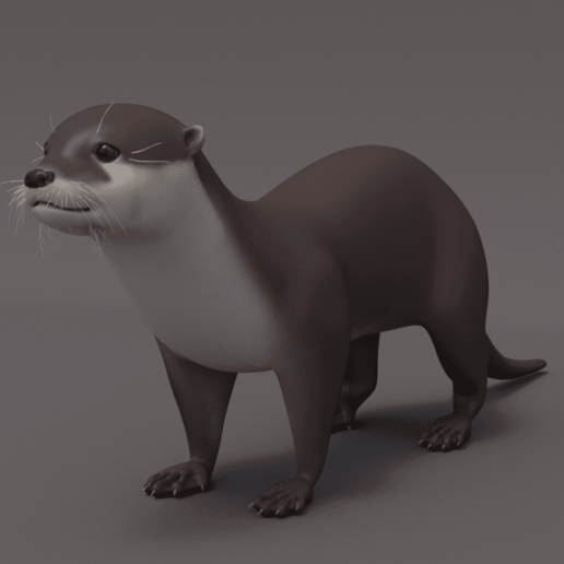 Modélisation_loutre.png Download free STL file European Otter • Design to 3D print, Rascof