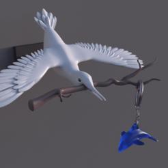 Télécharger plan imprimante 3D gatuit Oiseau porte-clés mural, Rascof