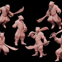 k1.png Download STL file Pirate Kobolds • 3D printable model, famg