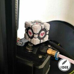 25.jpg Download free STL file Companion Cube Extruder Knob • 3D printer object, Alex_Torres