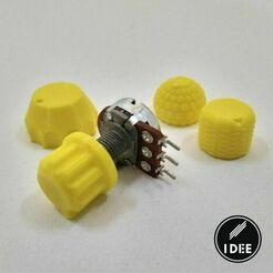 28.jpg Download free STL file Potentiometer Knobs • 3D printing template, Alex_Torres