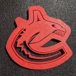 Télécharger plan imprimante 3D Coupe-biscuits Logo des Canucks, tamtrieu20