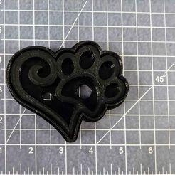 Paw Heart 2.jpg Download STL file Paw Heart Cookie Cutter • 3D print design, tamtrieu20