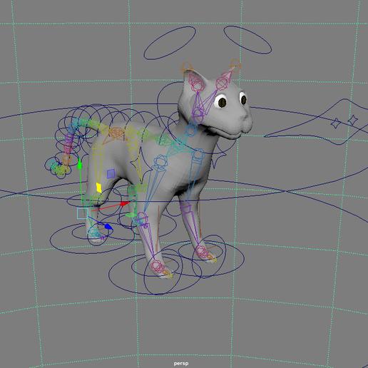 Capture 1.PNG Télécharger fichier OBJ gratuit Chat Deco • Plan à imprimer en 3D, VinDau