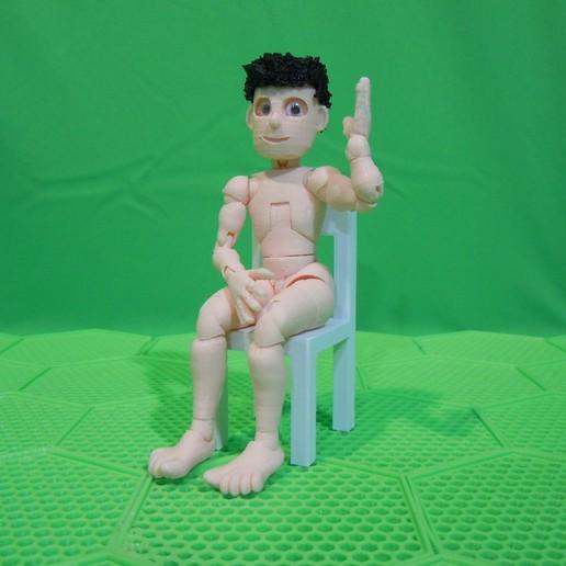 sit.jpg Download STL file BENDABLES . . .    ( male ) • 3D printing model, charles_beran