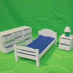 bedroom02.jpg Télécharger fichier STL LES PRODUITS PLIABLES . . . (CHAMBRE . . . ENSEMBLE) • Objet pour impression 3D, charles_beran