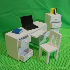 office-set.jpg Télécharger fichier STL LES PRODUITS PLIABLES . . . ( ENSEMBLE DU BUREAU ) • Objet pour imprimante 3D, charles_beran