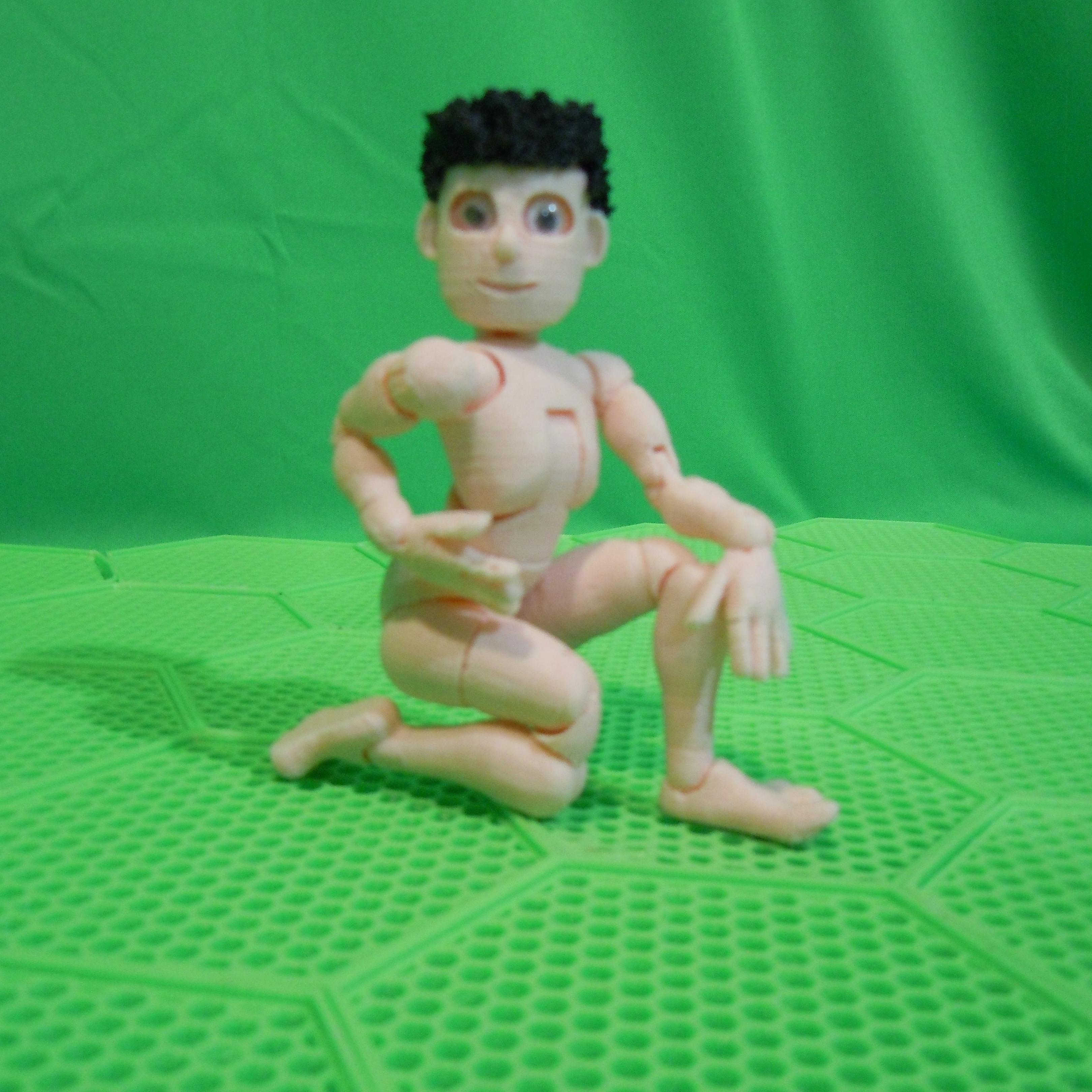 pose.jpg Download STL file BENDABLES . . .    ( male ) • 3D printing model, charles_beran