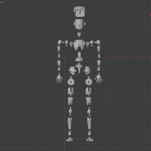 MALE-parts.jpg Download STL file BENDABLES . . .    ( male ) • 3D printing model, charles_beran