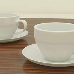 Download 3D printer templates Tea Cups, balaji