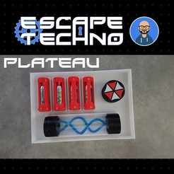 V06.jpg Download free STL file Tray for Virus T - Escape Game • 3D printing template, EscapeTechno